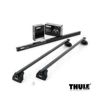 Komplet Thule krovni nosač 753 sa čeličnom šipkom za fiksne točke ili uzdužne integrirane